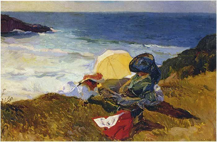 Joaquin Sorolla, Setting Sun In Biarritz, 1906