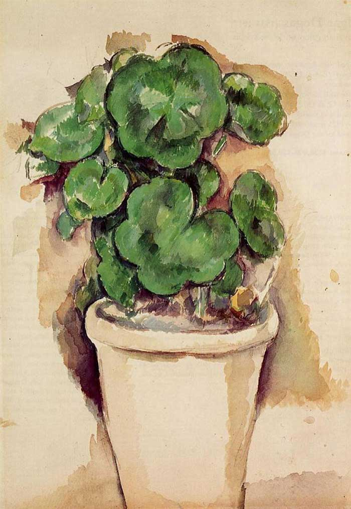 Paul Cezanne, Pot Of Geraniums, 1885