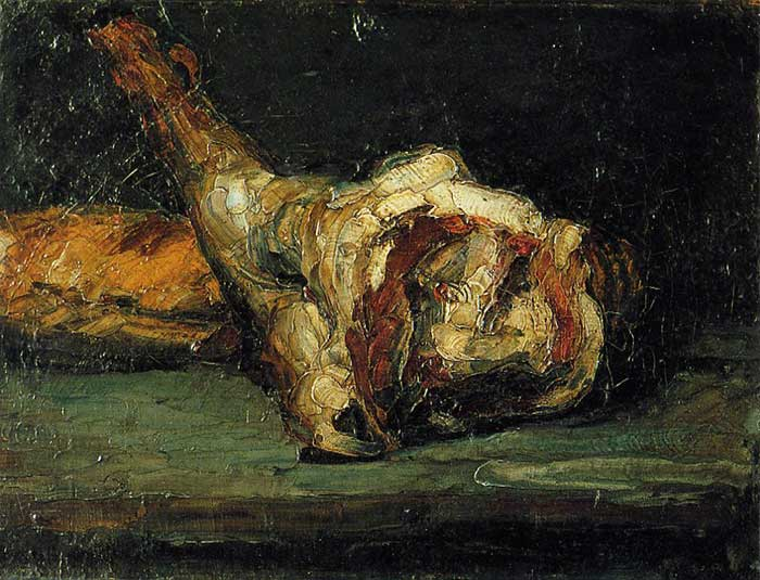 Paul Cezanne, Still Life Bread And Leg Of Lamb, 1866