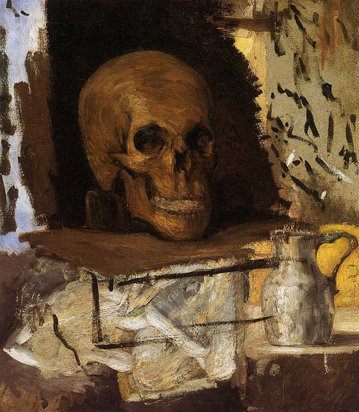 Paul Cezanne, Still Life Skull And Waterjug, 1870