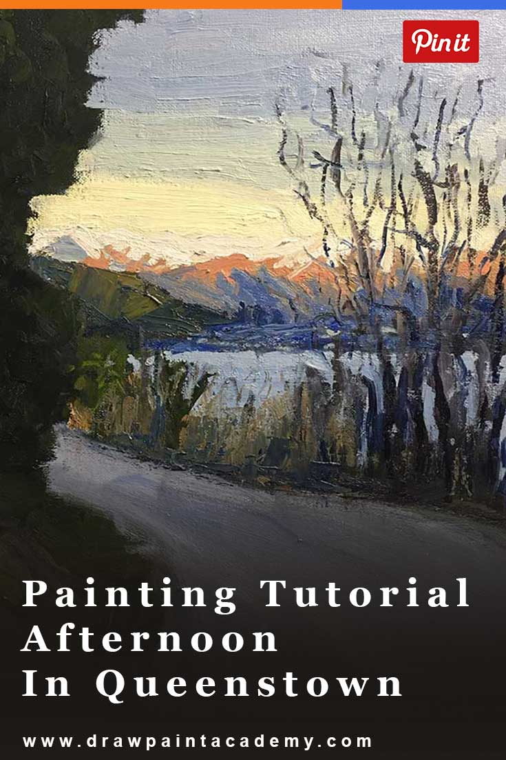 Free Painting Tutorial - Afternoon In Queenstown, New Zealand. In this tutorial I use oil paints to render this beautiful New Zealand landscape scene.