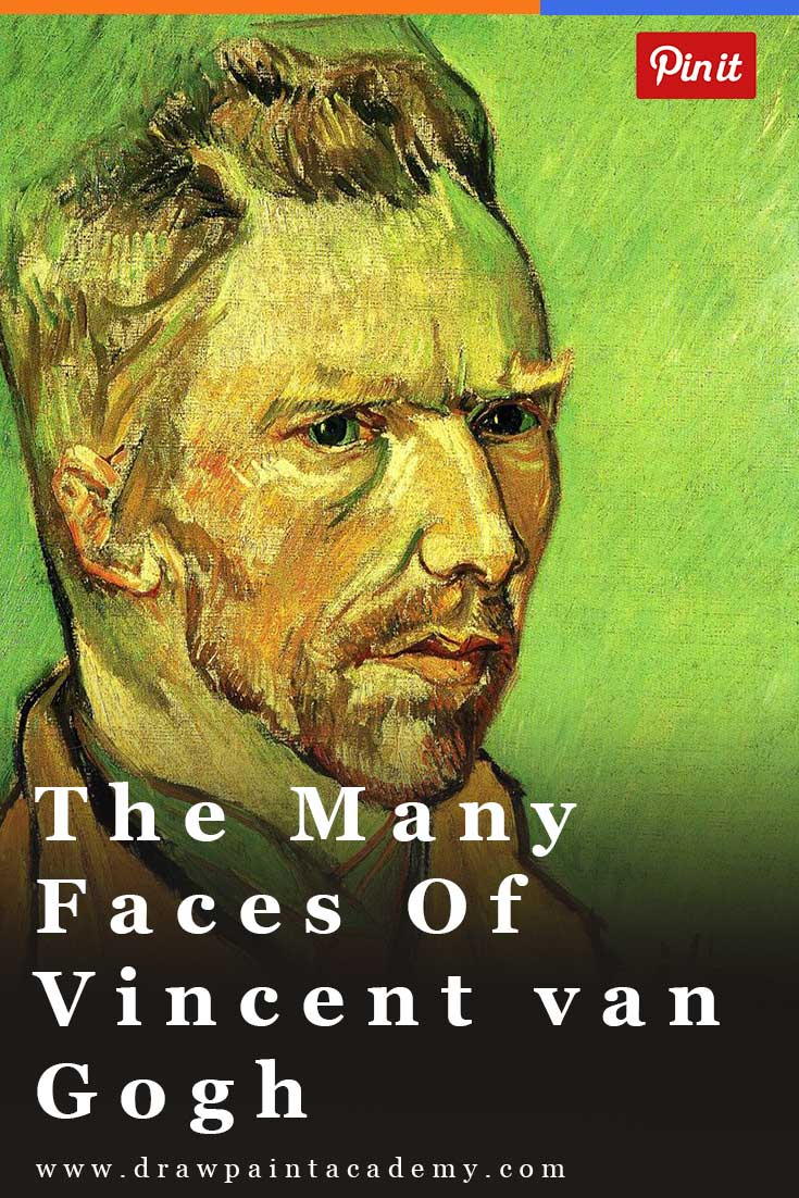 The Many Faces of Vincent van Gogh.Vincent van Gogh was a fascinating painter and person. He lived a life of drama, captured through his many paintings.An interesting way to view van Gogh's life is through his self-portraits, where you can see him evolve as a person and as an artist. Each portrait is unique and seems to depict his emotion at the time of painting it.