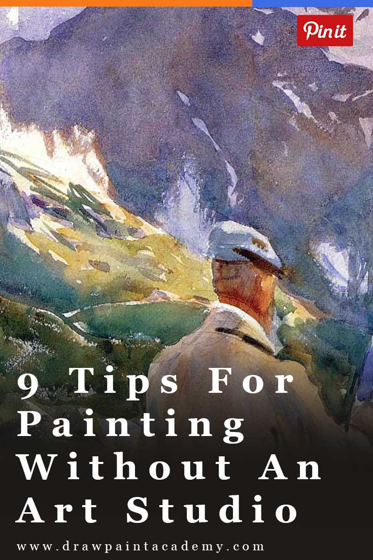 9 Tips For Painting Without An Art Studio.One of the issues with painting is that it requires space. With your easel, paints, canvas, storage boxes and whatever else you use to paint, it can be a struggle to paint if you do not have a dedicated art studio. So here are some tips for painting without an art studio.
