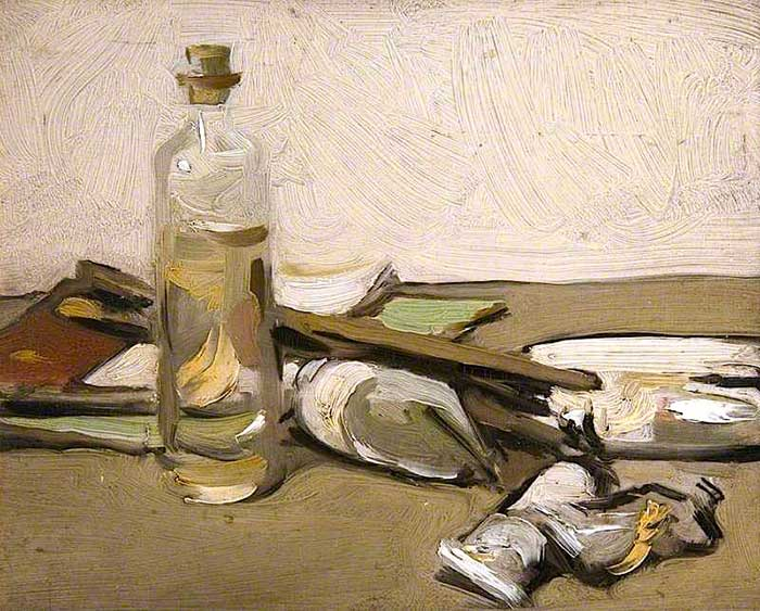 Samuel Peploe, Still Life With Paint Tubes, 1903