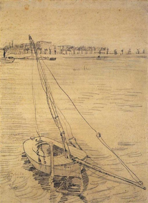 Vincent van Gogh, Sailing Boat On The Seine At Asnieres, 1887