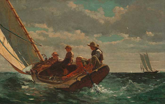 Winslow Homer, Breezing Up (A Fair Wind) 1873-76