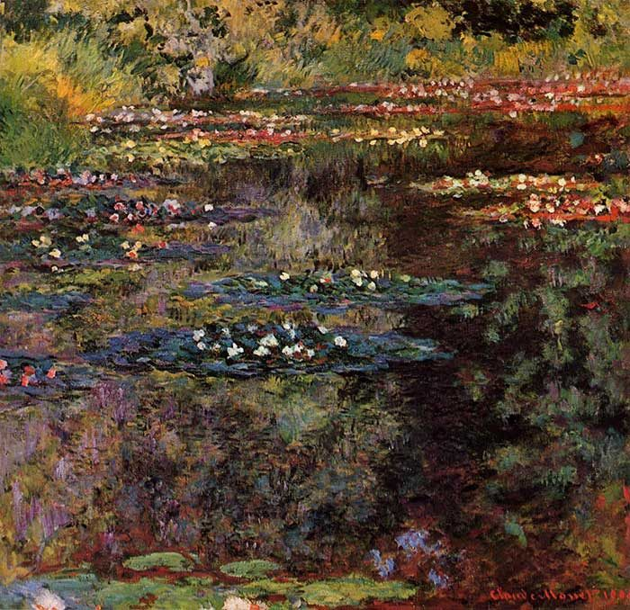 10. Claude Monet, Water Lilies, 1904
