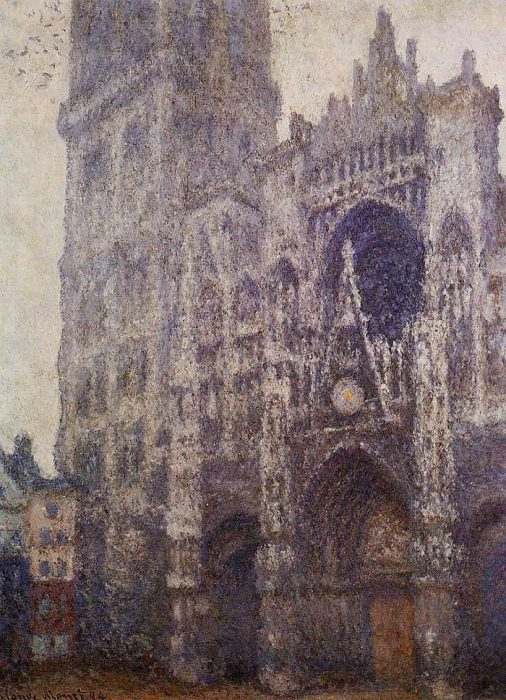 18. Claude Monet, Rouen Cathedral, The Portal And The Tour d'Albene, Grey Weather, 1894