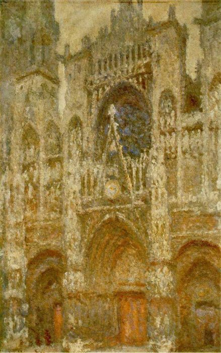 23. Claude Monet, Rouen Cathedral, The Gate, Grey Weather, 1894