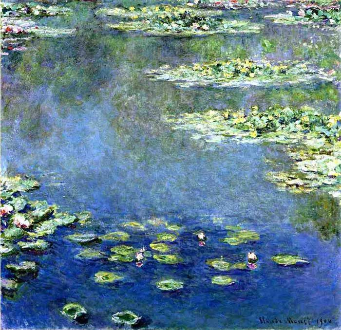 23. Claude Monet, Water Lilies, 1906-1907