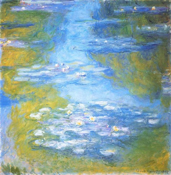 24. Claude Monet, Water Lilies (2), 1907