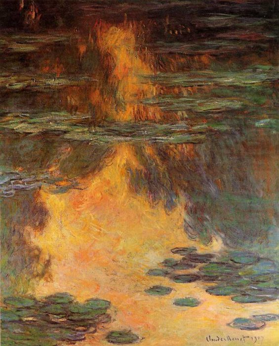 27. Claude Monet, Water Lilies (5), 1907