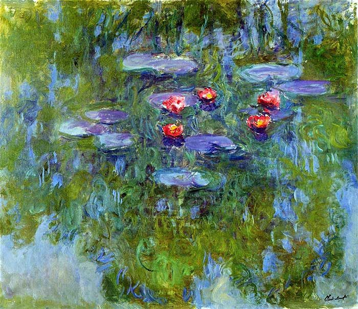43. Claude Monet, Water Lilies, 1916-1919