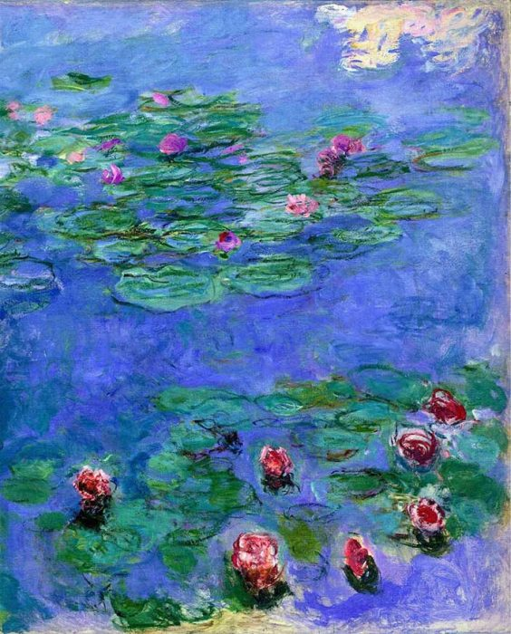 47. Claude Monet, Water Lilies Red, 1914-1919