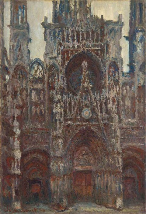 9. Claude Monet, Rouen Cathedral, Evening, Harmony In Brown, 1894
