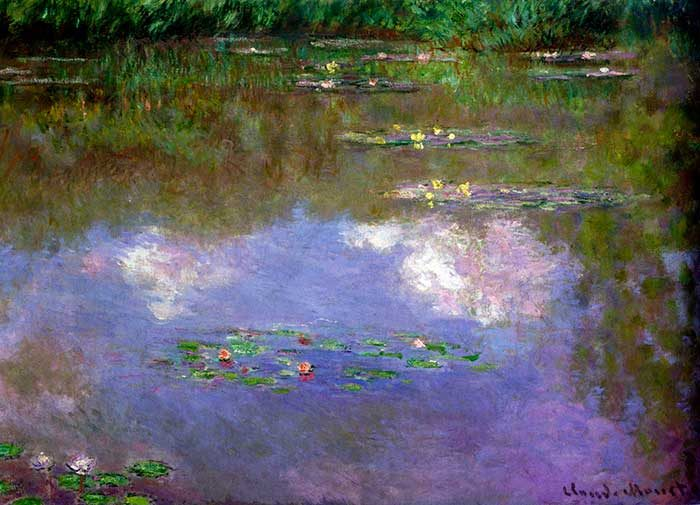9. Claude Monet, Water Lilies, The Clouds, 1903