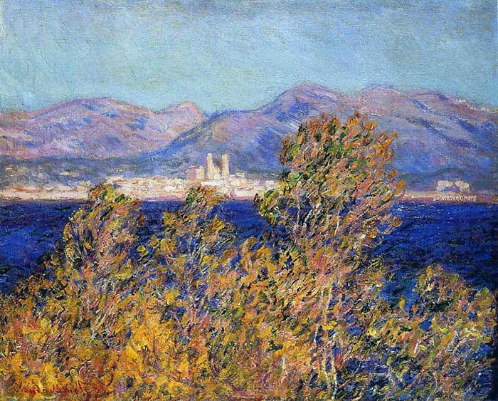 Claude Monet, Antibes Seen From The Cape, Mistral Wind, 1888