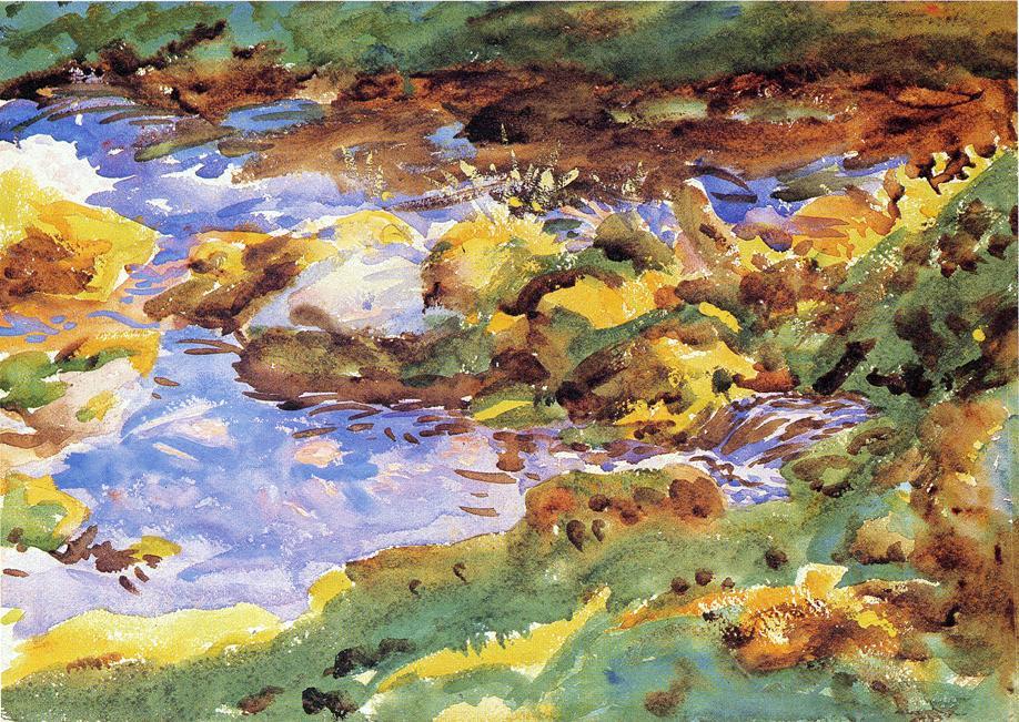 John Singer Sargent, The Alps Val D'Aosta, Purtud, 1891