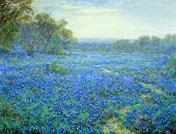 Robert Julian Onderonk, Bluebonnet Scene, Date Unknown