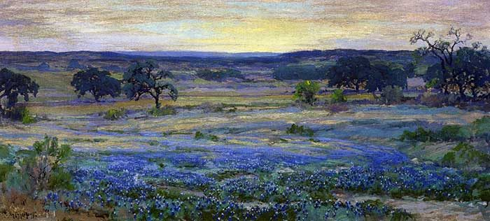 Robert Julian Onderonk, Bluebonnets At Dusk, Date Unknown