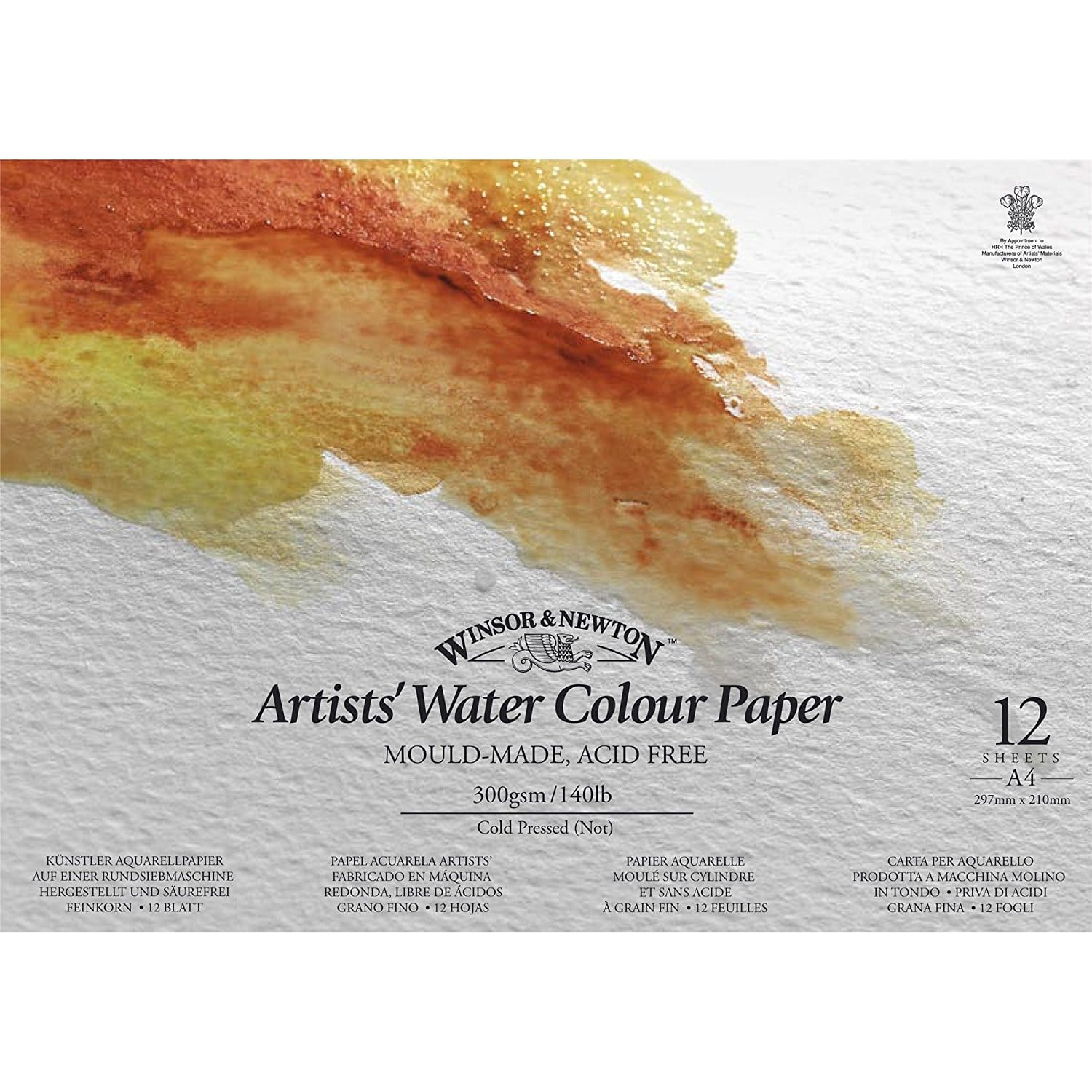 Winsor & Newton Cold Pressed Water Colour Pad - Watercolor Art Supplies For Beginners