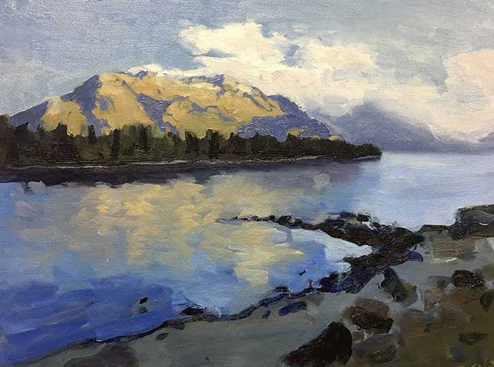 Free Oil Painting Tutorial - New Zealand Reflections