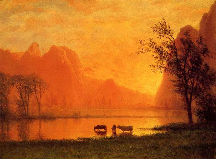 Albert Bierstadt, Sundown At Yosemite, 1863