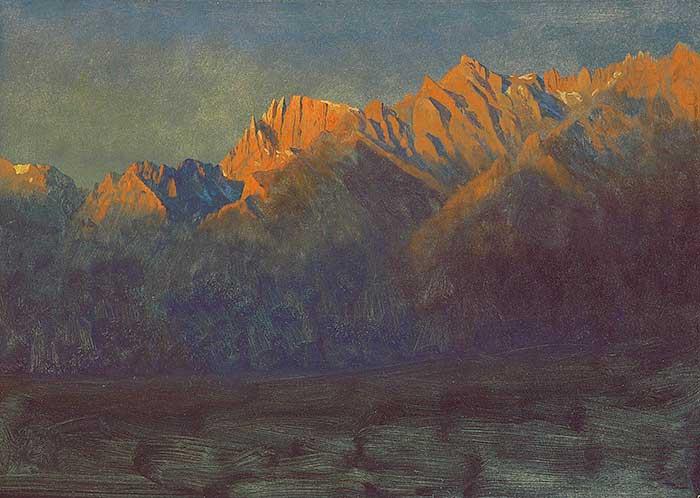 Albert Bierstadt, Sunrise in the Sierras, 1872