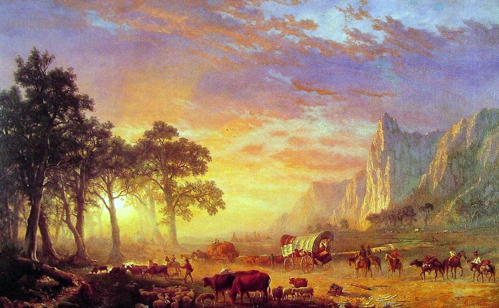 Albert Bierstadt, The Oregon Trail, 1869