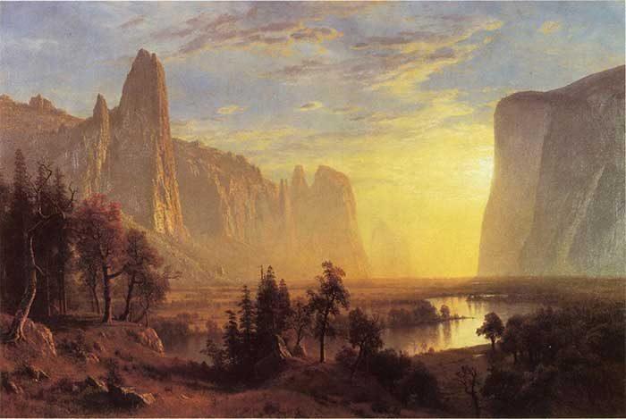 Albert Bierstadt, Yosemite Valley, Yellowstone Park, 1868