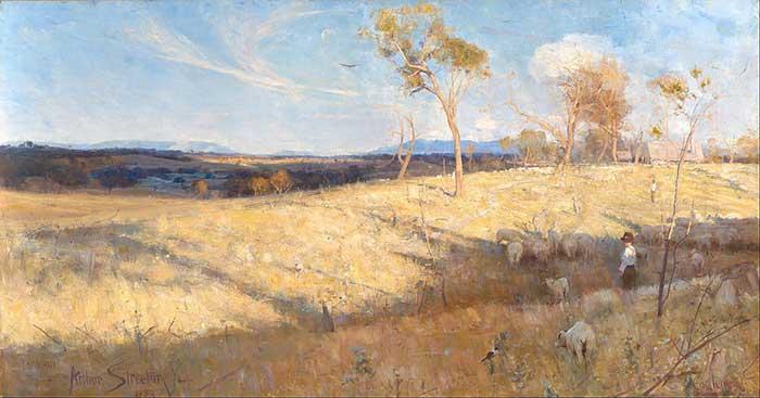 Arthur Streeton, Golden Summer, Eaglemont, 1889