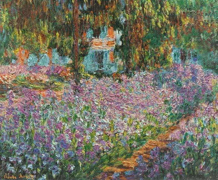 Claude Monet, Irises In Monet's Garden, 1900