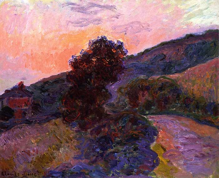 Claude Monet, Sunset at Giverny, 1886