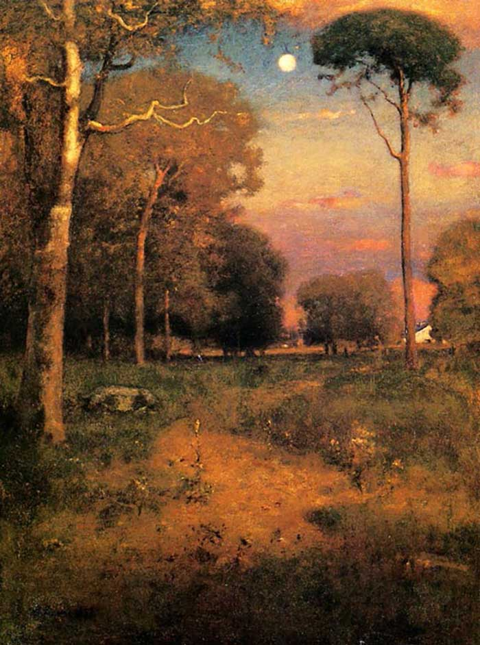 George Inness, Early Moonrise, Florida, 1893