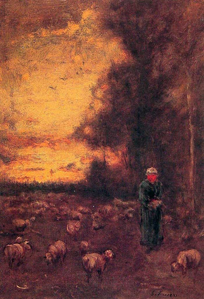George Inness, End Of Day, 1855