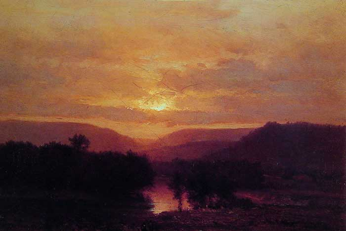George Inness, Sunset, 1865