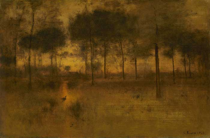George Inness, The Home Of The Heron, 1893