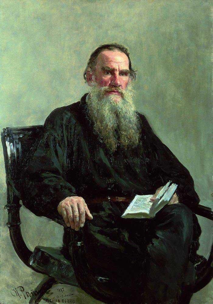 Ilya Repin, Retrato de Leo Tolstoi, 1887