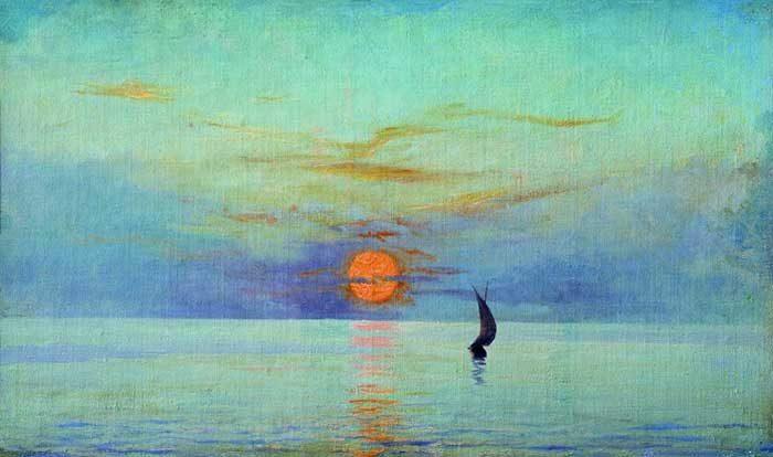 Mykola Yaroshenko, Sunset, How To Paint A Sunset