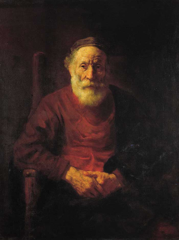 Rembrandt, An Old Man In Red, 1654