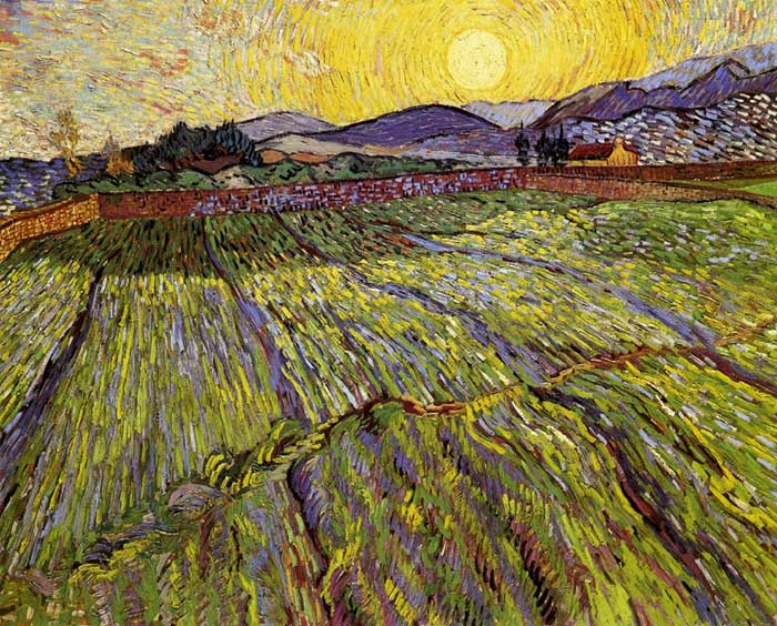 Vincent van Gogh, Enclosed Field With Rising Sun, 1889