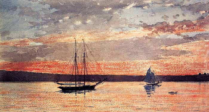 Winslow Homer, Sunset At Gloucester, 1880