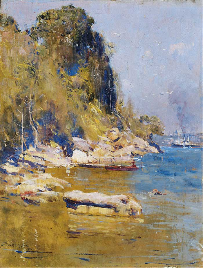 Arthur Streeton, From My Camp (Sirius Cove), 1896