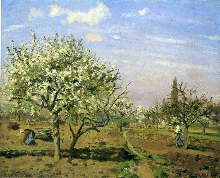 Camille Pissarro, Orchard In Blossom, Louveciennes, 1872