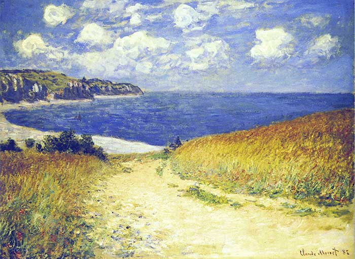 Claude Monet, Alley Near Pourville, 1882