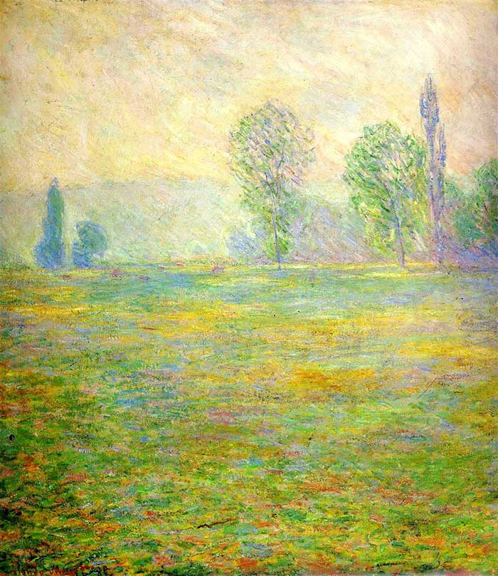 Claude Monet, Meadows In Giverny, 1888