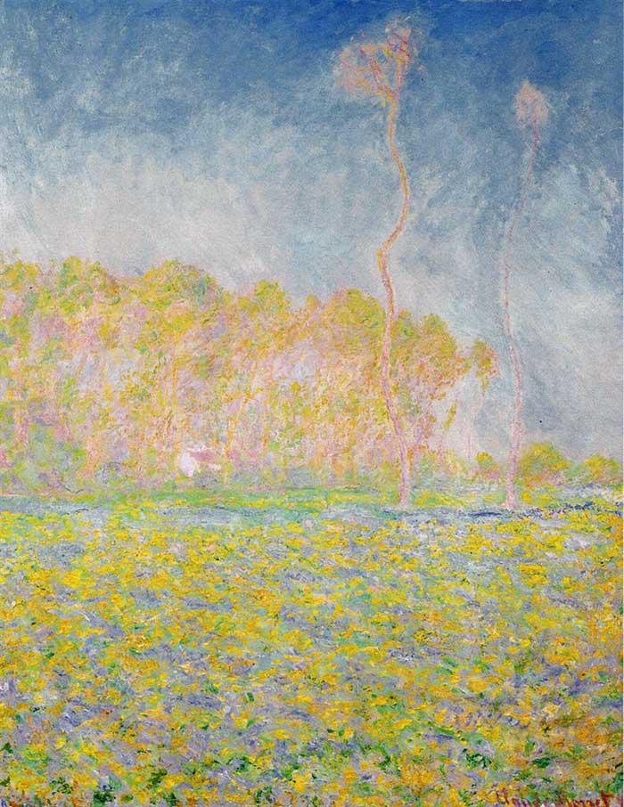 High Key Painting   Oil Painting For Beginners   Landscape Painting   Claude Monet, Springtime Landscape, 1894