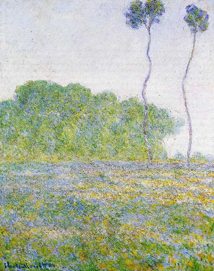 Claude Monet, Springtime, Meadow At Giverny, 1894