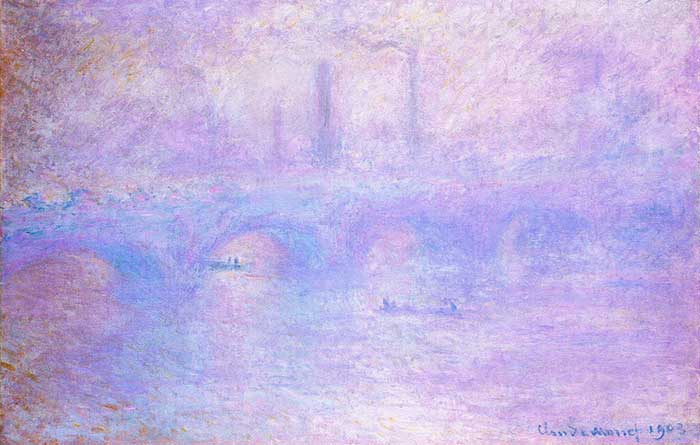 Claude Monet, puente de Waterloo, niebla, 1903
