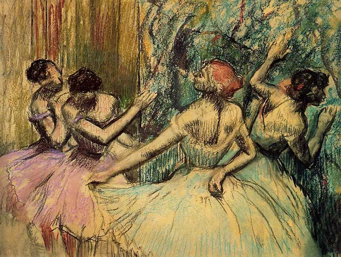 Inspirational Drawing Quotes - Edgar Degas, Dancers In The Wings, 1897-1901